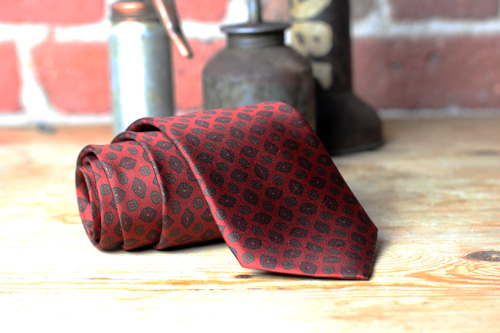 Burgundy Pendant Patterned Ties