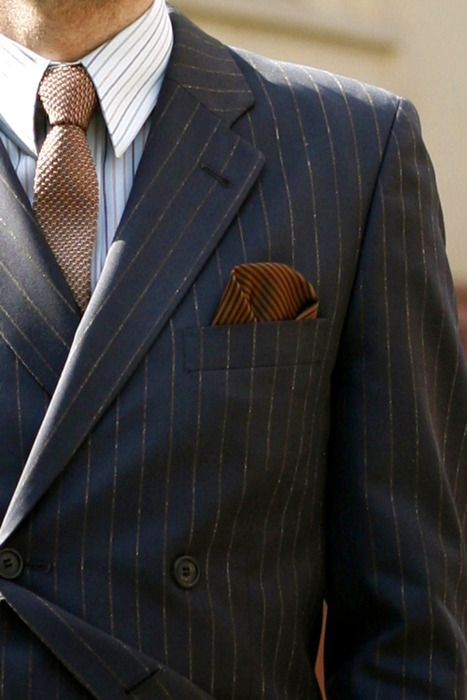Bronze Tie + Pocket Square and Suit