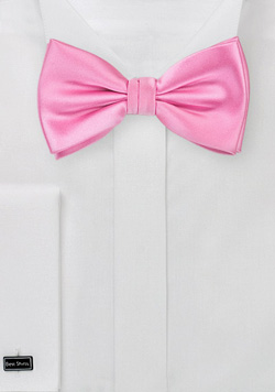 Classic Pink Bow Tie