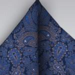 Dark Blue Paisley Tie