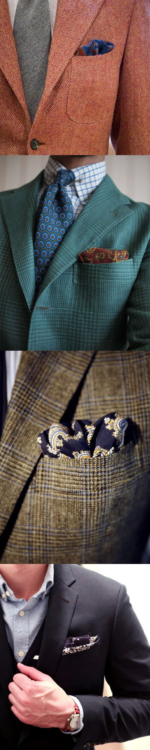 Paisley Pocket Squares and Blazers