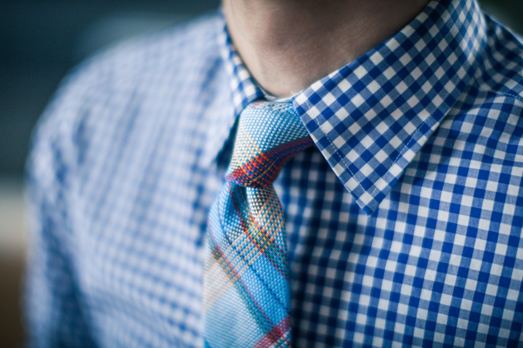 Madras Tie and Gingham Shirt