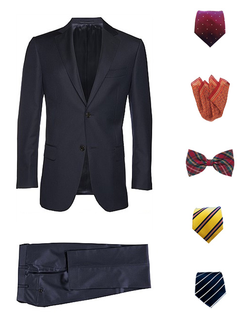 How To Dress Up A Navy Suit