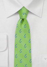 Designer Summer Green Fish Hook Tie