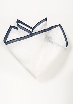 Designer Linen Pocket Square Nautical