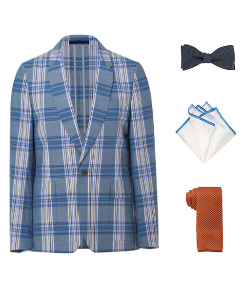 How To Accessorize a Blue Plaid Blazer