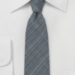 Designer Skinny Tie in Dark Gray
