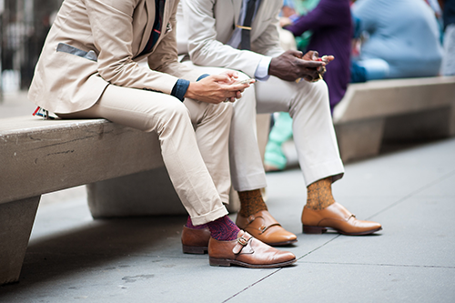 Tie Bars and Monk Strap Shoes Trending At Fashion Week