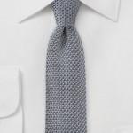 Skinny Knit Gray Tie