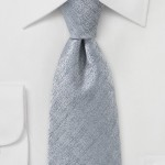 Designer Heather Gray Tie