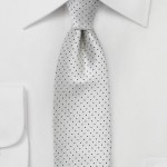 Handsome Pin Dot Tie in Gray