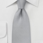 Designer Texture Gray Tie