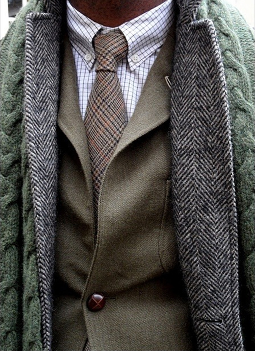 Fashion Tweed Ties For Fall