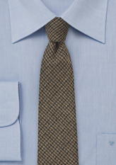 Brown-Tweed-Skinny-Tie