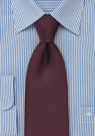 Marsala Matte Finish Tie