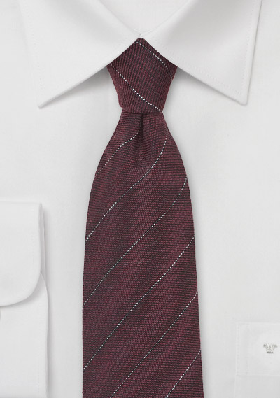 Marsala Striped Tie