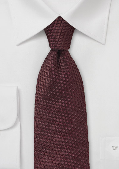 Designer Tie in Textured Marsala