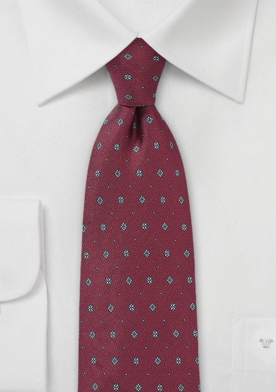 Marsala Patterned Tie