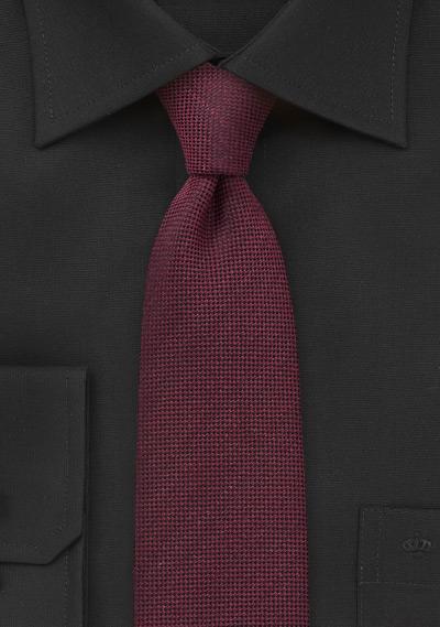 Solid Skinny Tie in Marsala