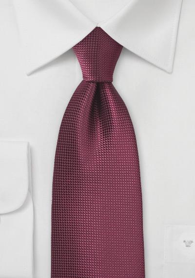 Marsala Red Texture Tie