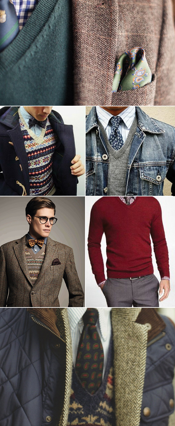 Accessorizing Sweaters With Ties   Bow Ties | V-Neck Sweater   ...