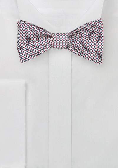 Bow Tie in Blue + Red