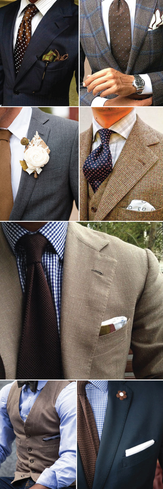 Great Looks for Men in Brown and Blue