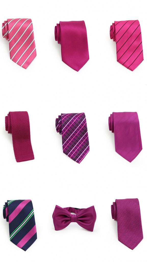 Berry Hued Men's Neckties