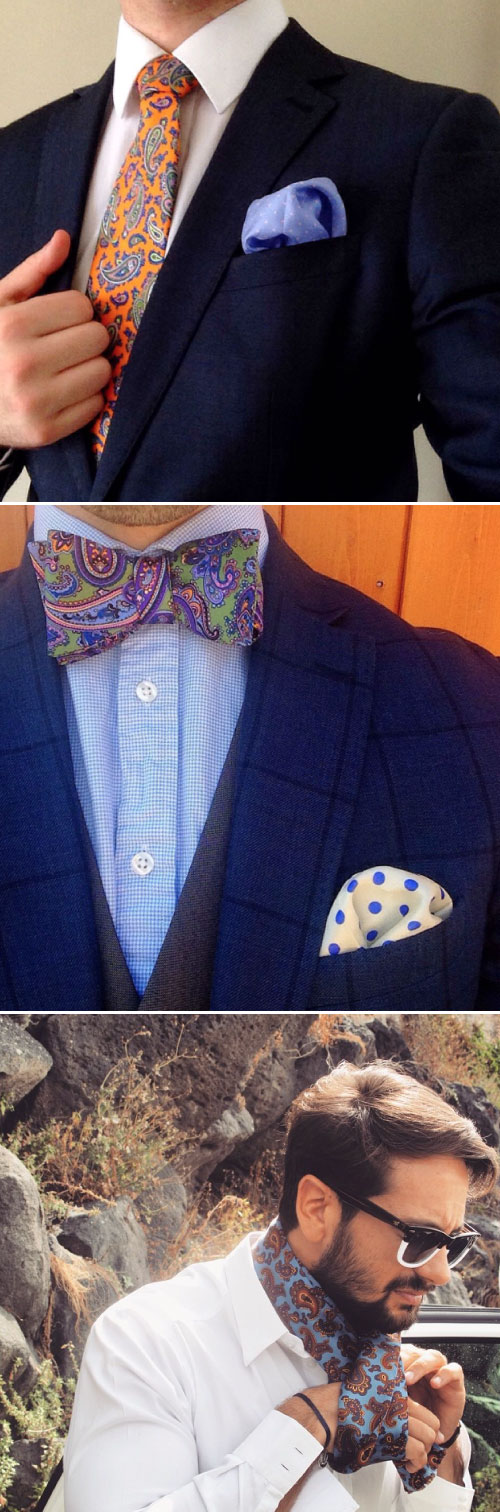 Paisley Menswear Accessories