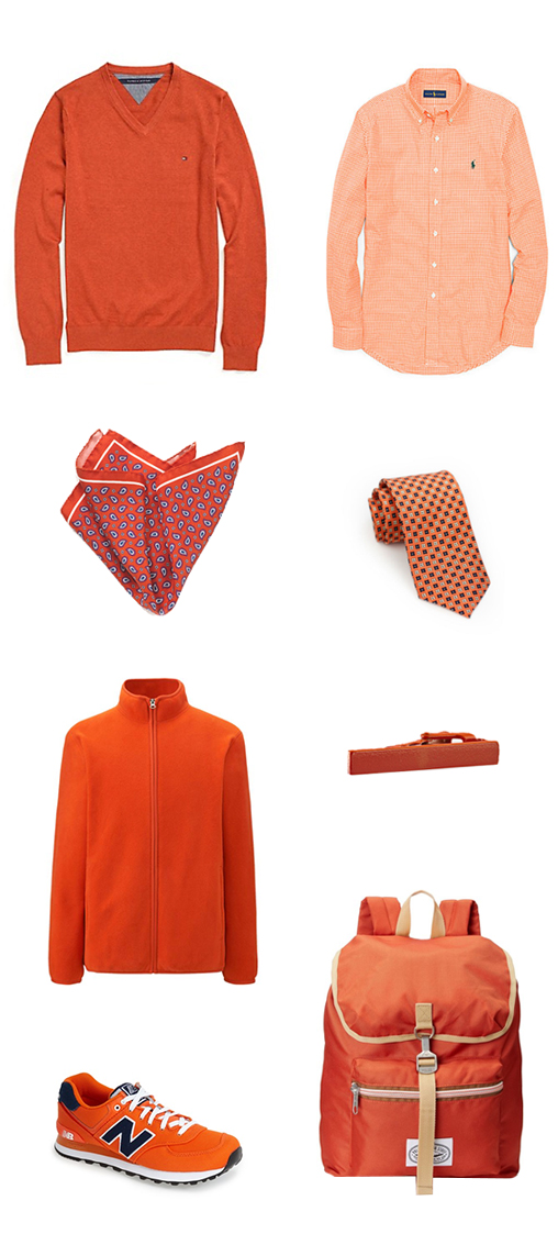 Menswear Pieces in Orange