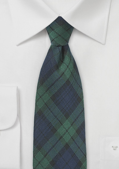 Green and Blue Tartan Tie