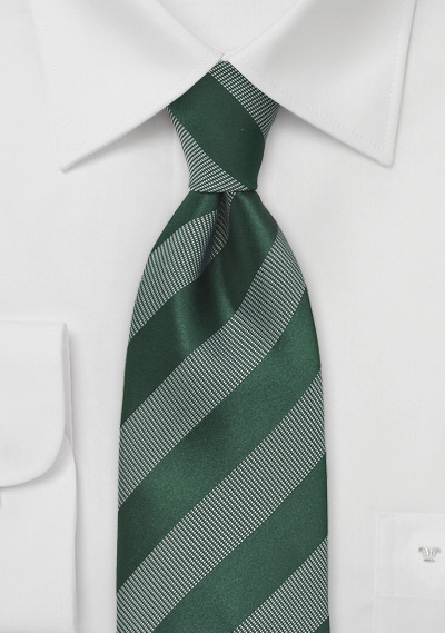 Striped Green Tie