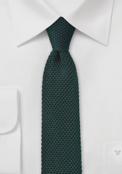 Knit Tie in Green