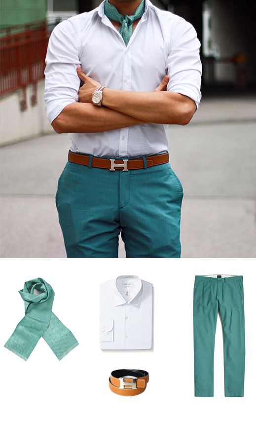 Men's Spring Style In Teal