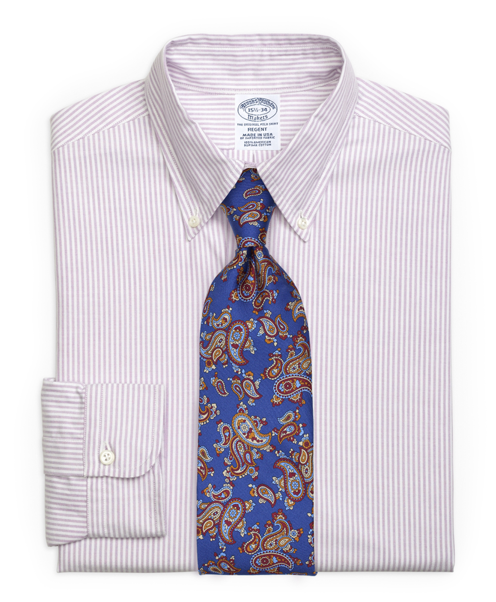 Striped Lilac Shirt and Paisley Tie