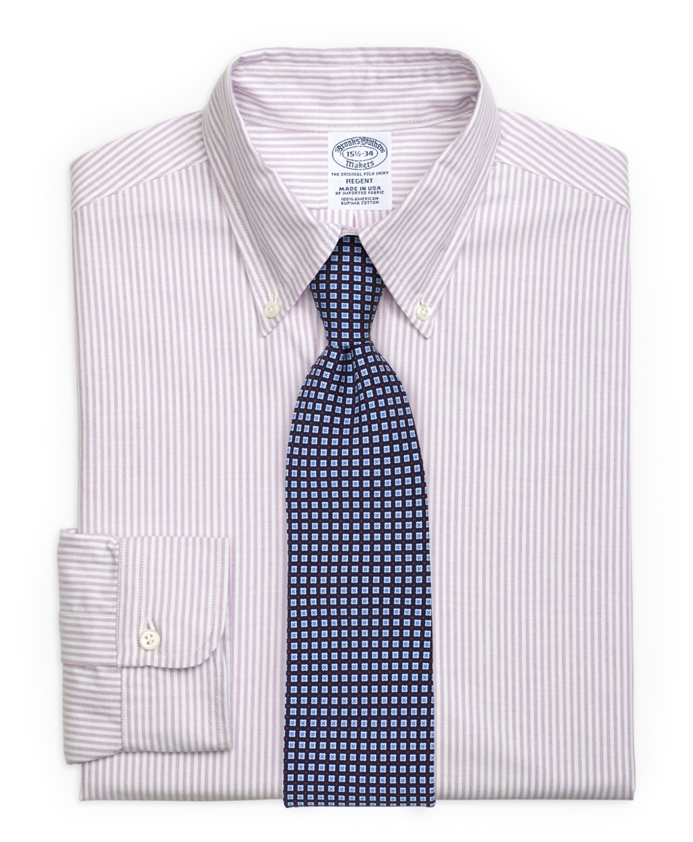 Art Deco Tie and Striped Lilac Shirt