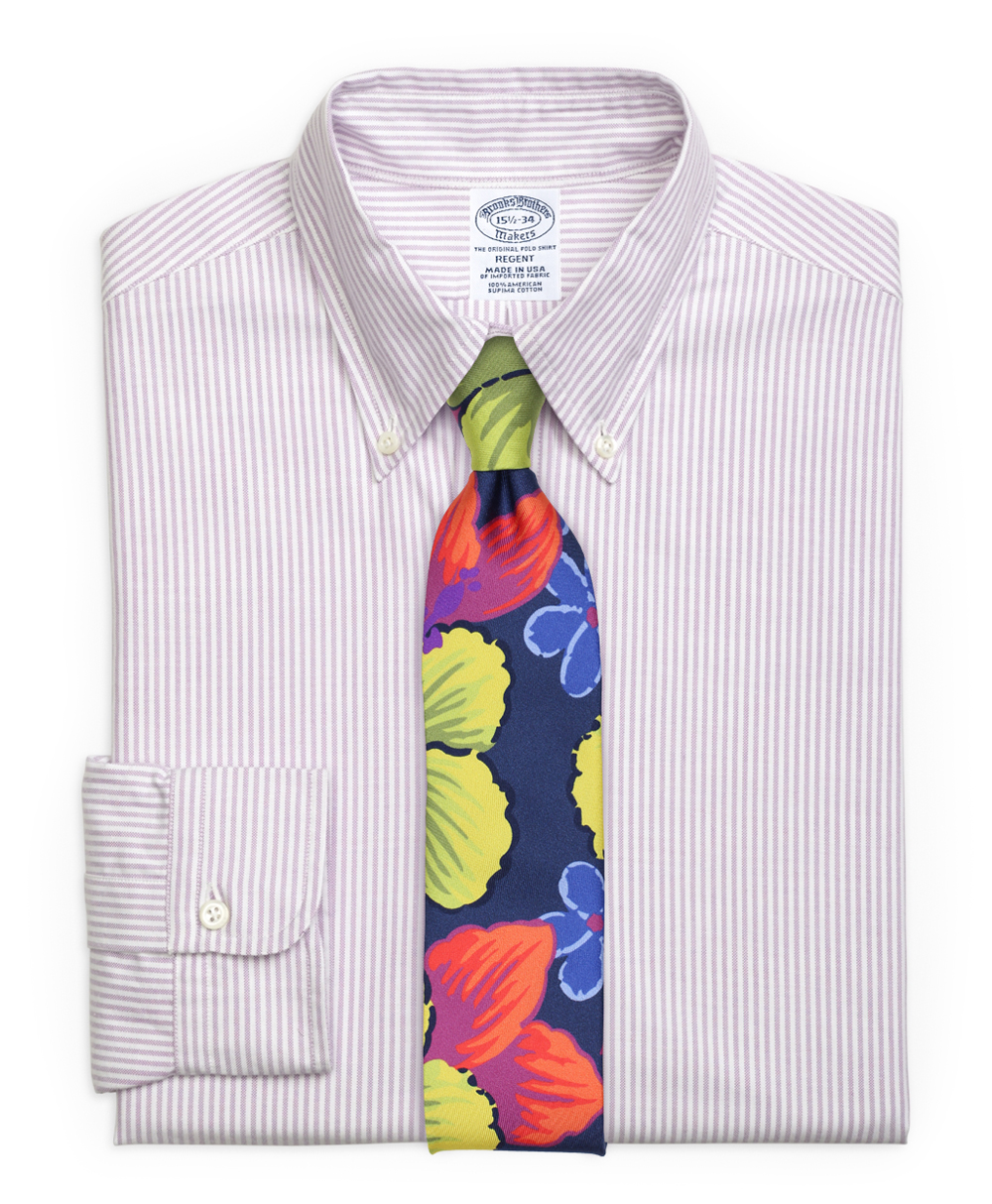 Tropical Tie and Striped Oxford