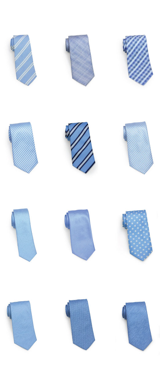 Summer Ties in Soft Ocean Blues