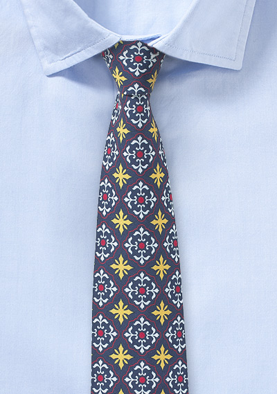 Cotton Tie in Blues