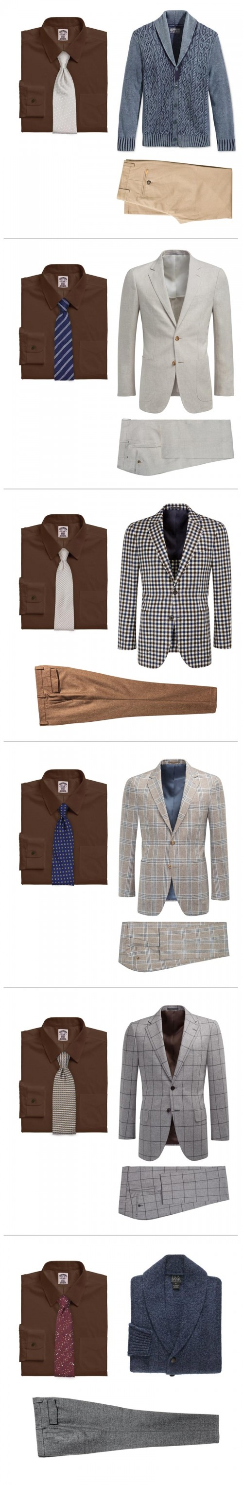 How To Wear A Brown Dress Shirt - 6 Looks for Men