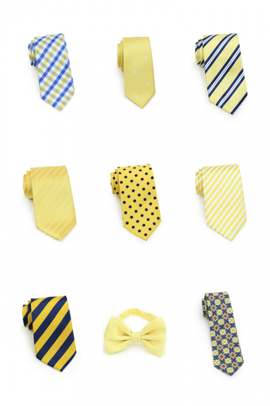 Best Yellow Spring Ties and Bow Ties