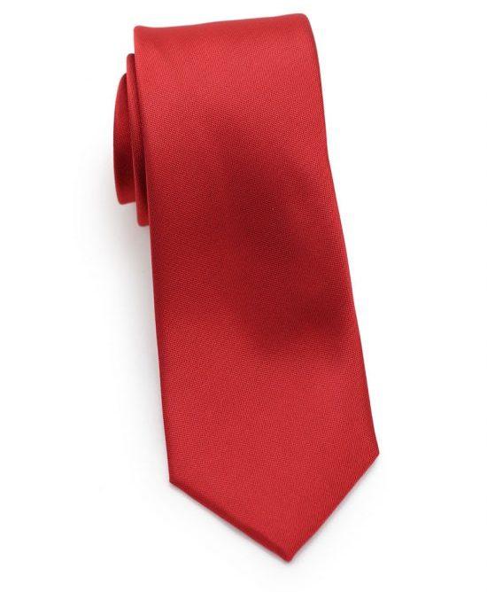 Paprika Red Skinny Tie