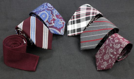 Burgundy Neckties for Mens Fall Fashion