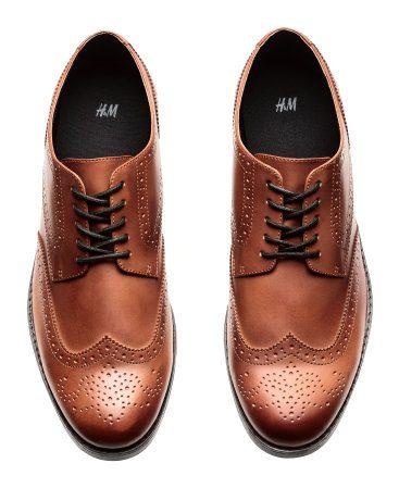 Tawny Brown Mens Fall Brogue Shoes