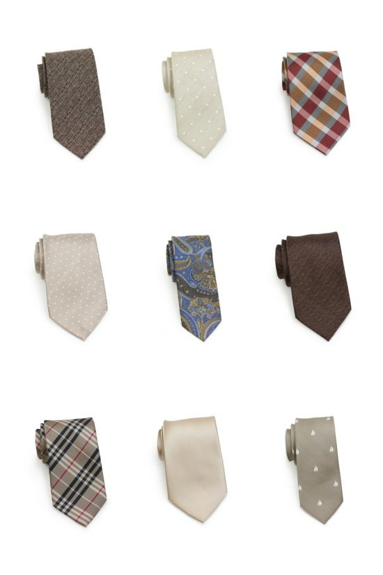 Fall Mens Fashion - Brown and Champagne Neckties