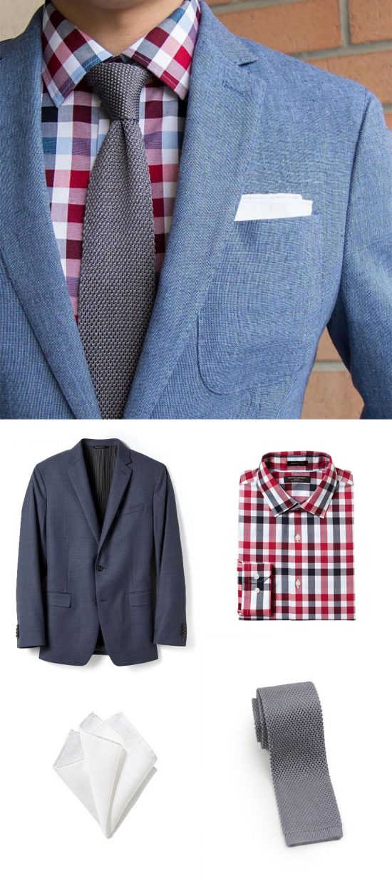 The Last Look of Summer - Menswear in Red, Blue, and Silver