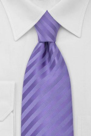 Violet Striped Monochromatic Necktie