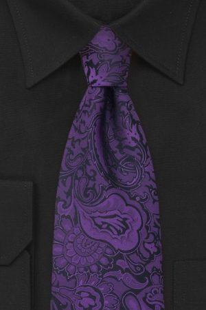 Paisley Purple Necktie