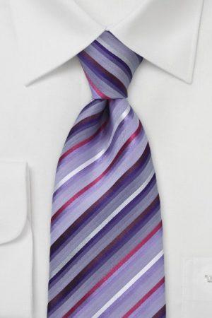 Striped Violet and Purple Necktie