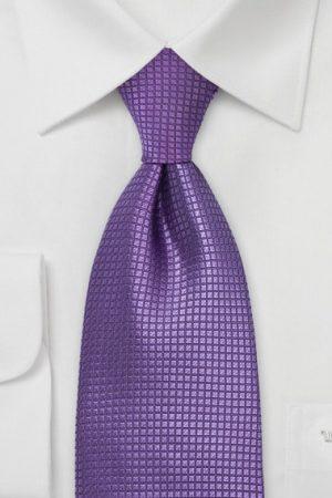 Textured Solid Violet Necktie